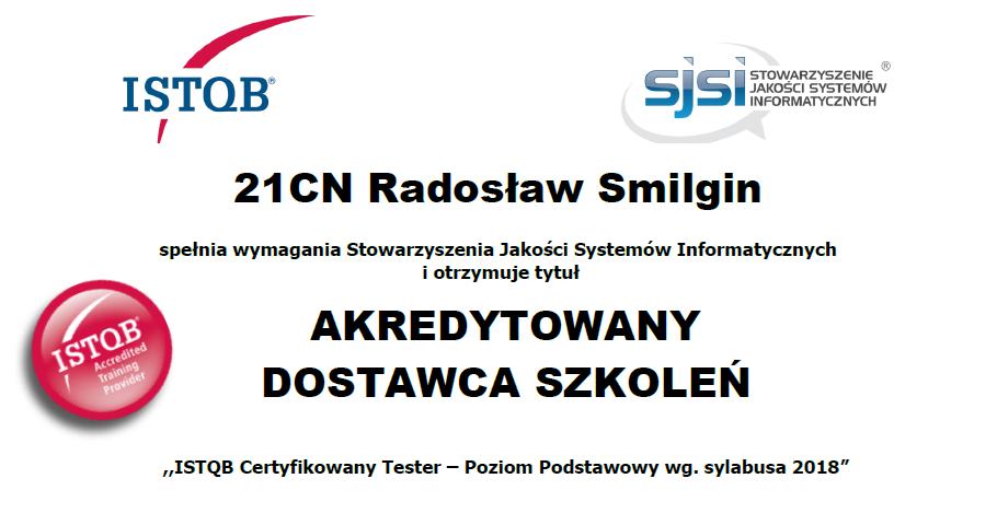 Testerzy.pl akredytowanym dostawcą szkoleń ISTQB®