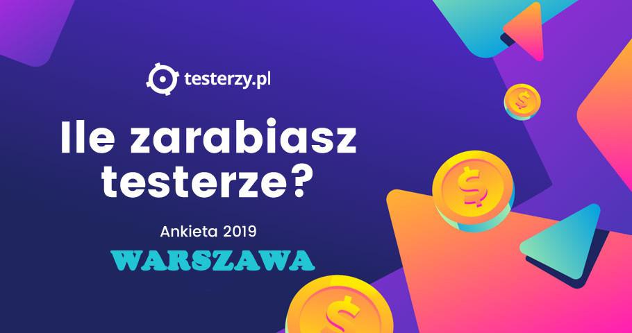 Analiza zarobków testerów - 2019. Warszawa