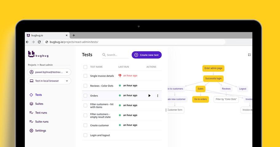 """BugBug.io, czyli narzędzie automatyzacji """"nagraj i odtwórz"""". Recenzja."""