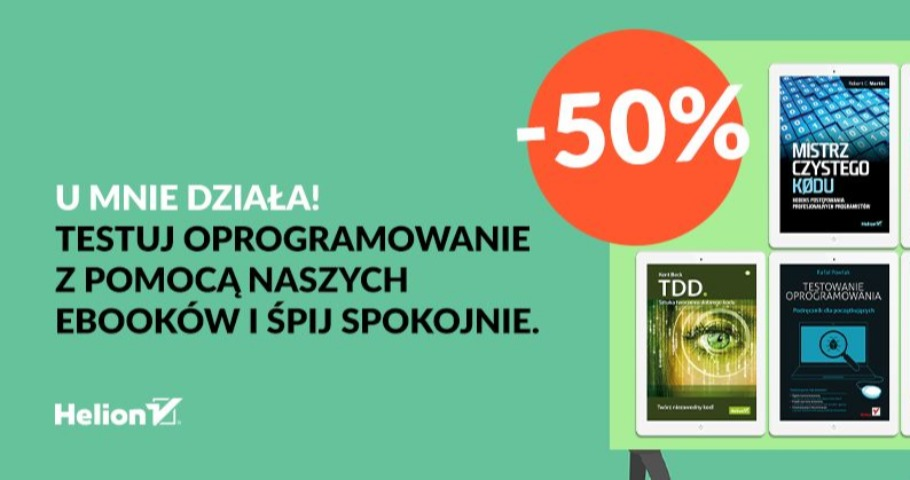 E-booki o testowaniu 50% taniej