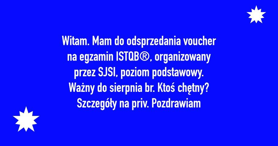 Voucher SJSI na egzamin ISTQB®