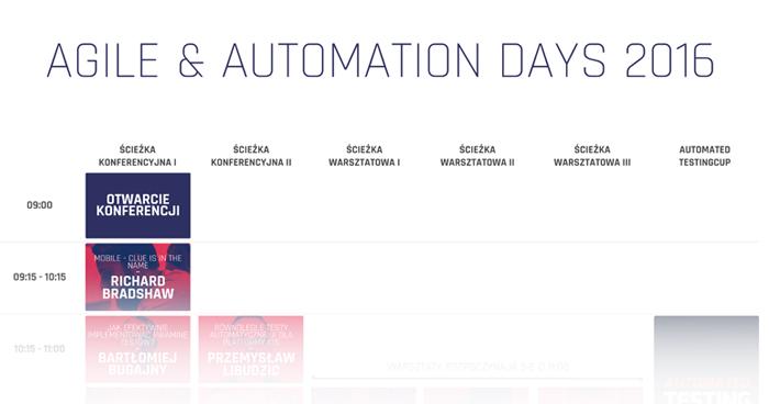 Agenda Agile & Automation Days