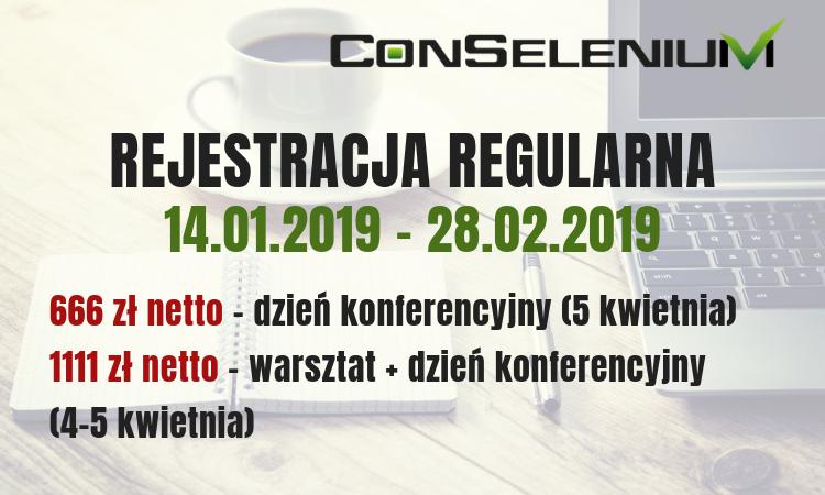 ConSelenium 2019. Agenda.