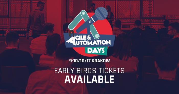 Przedsprzedaż biletów Agile & Automation Days 2017 [aktualizacja]