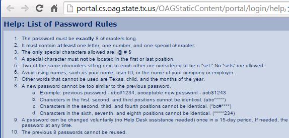 Reguły dla hasła. Poziom akademicki.