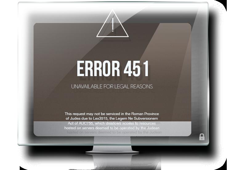"""Kod błędu """"451"""" = cenzura"""