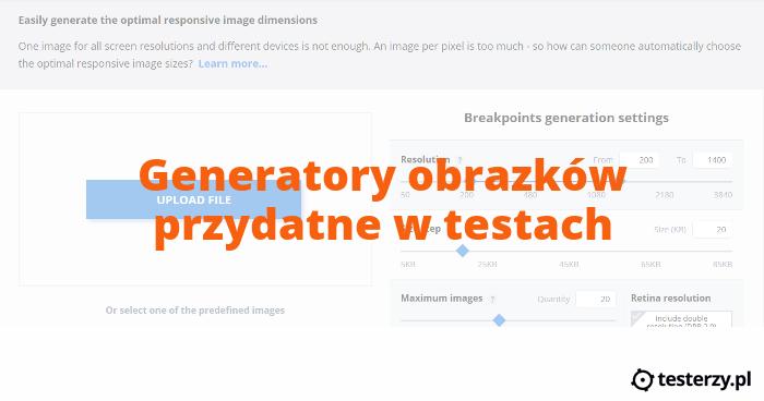 Generatory obrazków przydatne w testach