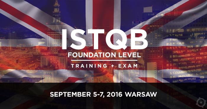 Zaproszenie na szkolenie ISTQB Foundation Level po angielsku
