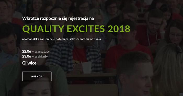 Konferencja Quality Excites 2018 [aktualizacja]