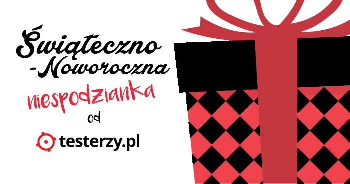 Świąteczno - noworoczna niespodzianka od testerzy.pl