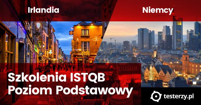Szkolenia ISTQB Poziom Podstawowy w Portugalii, Irlandii i Niemczech