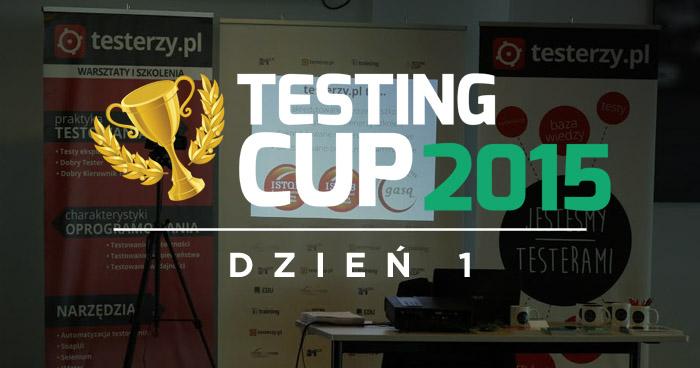 Jesteśmy na TestingCup 2015!