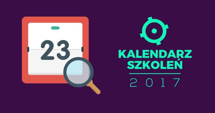 Kalendarz szkoleń z testowania na 2017 r.
