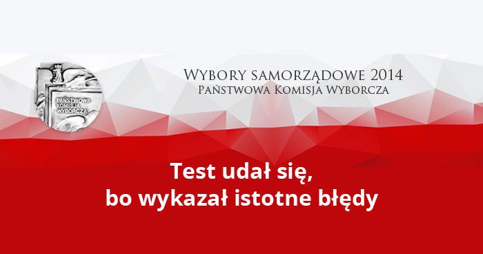 Wybory samorządowe 2014 - testowanie wydajności