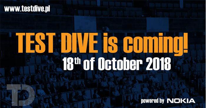 Druga edycja konferencji Test Dive już 18 października 2018 r.!