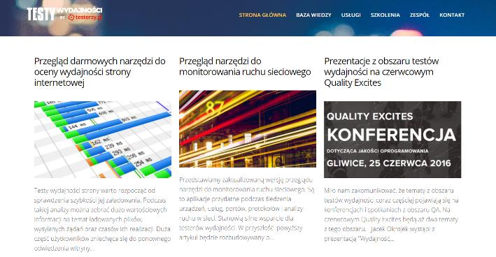 TestyWydajnosci.pl - nowy portal dla amatorów i specjalistów testowania wydajnościowego