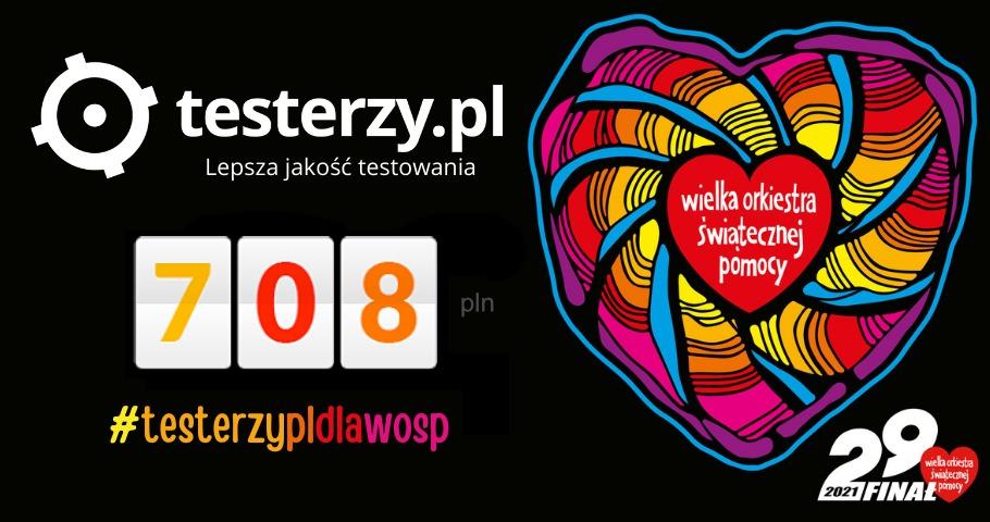 708 zł na WOŚP od Was i od nas