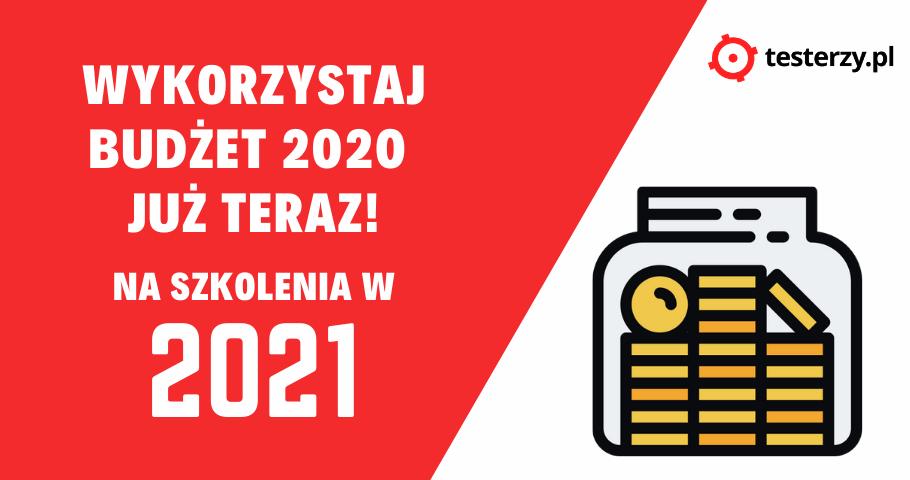 Zapłać teraz za szkolenie w 2021 roku!
